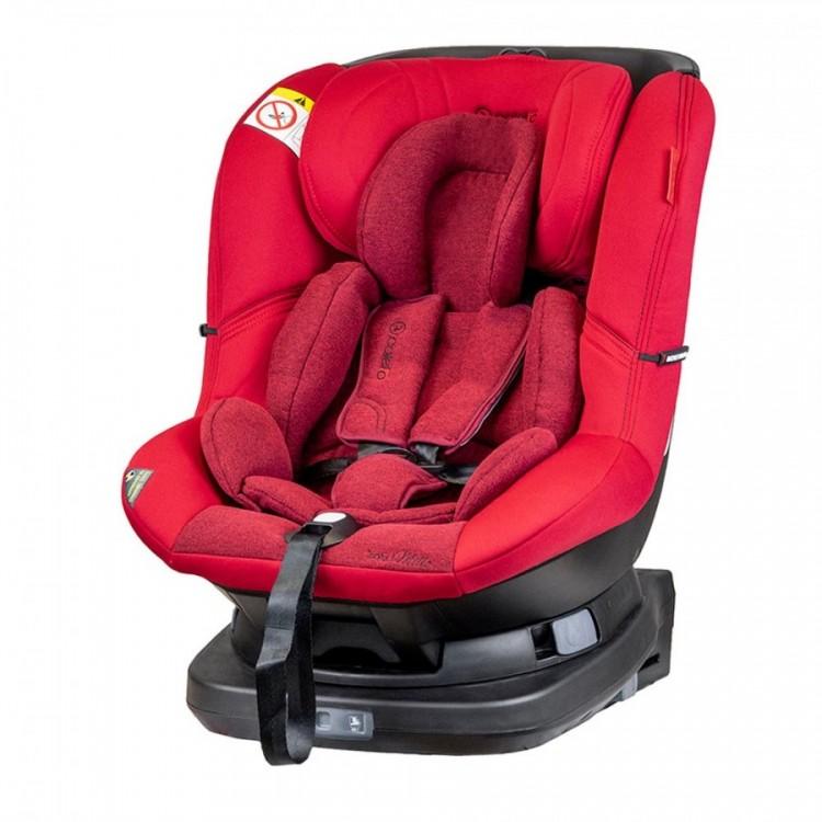 Scaun auto Millo rotativ 360 grade cu ISOFIX 0-18 kg Rosu Coletto