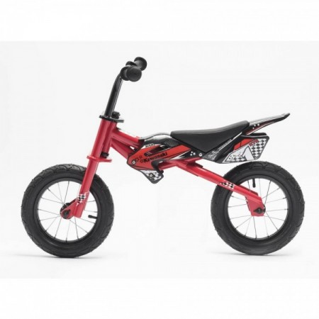 Bicicleta copii fara pedale Kawasaki KTR 12 red by Merida Italy