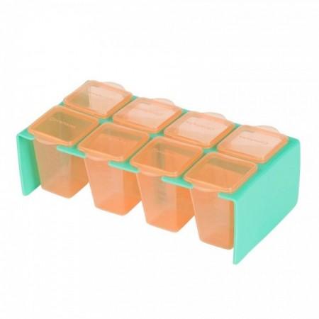 Set 8 recipiente de depozitare a hranei Clevamama