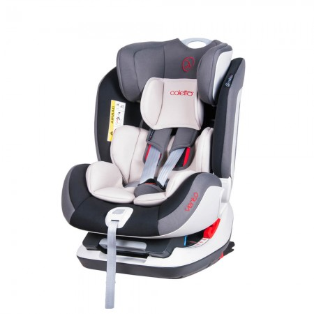 Scaun auto Vento cu ISOFIX si Top-Tether 0-25 kg Grey Coletto