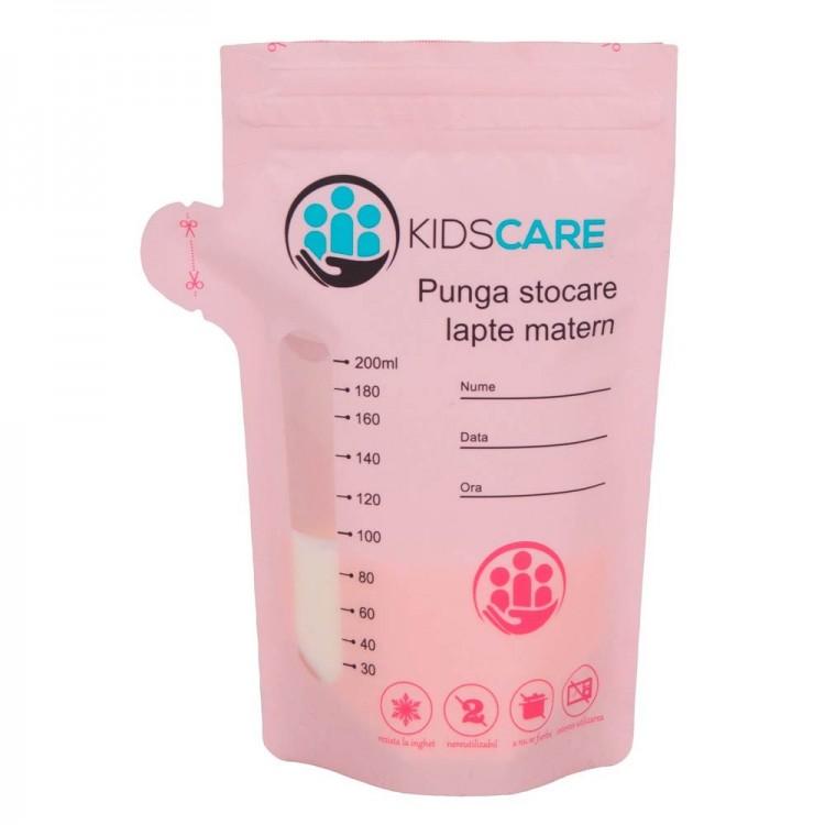 Set 5 pungi de stocare pentru lapte matern Kidscare