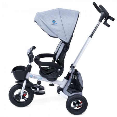 Tricicleta pliabila cu scaun rotativ Davos gri KidsCare