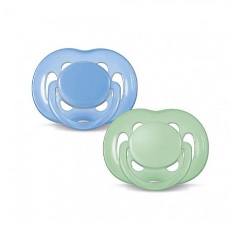 Set Suzete 6-18 luni 2 buc Albastru/ Verde SCF178/24 Philips Avent