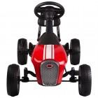 Kart cu pedale Retro rosu Kidscare
