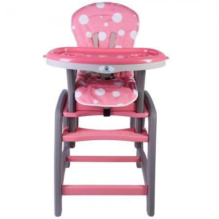 Scaun de masa multifunctional roz Kidscare