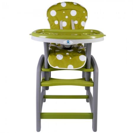 Scaun de masa multifunctional verde Kidscare
