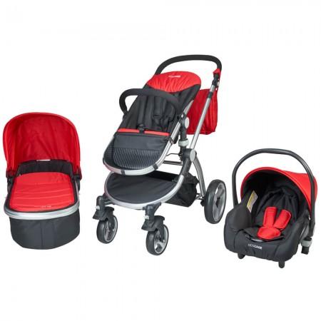 Carucior 3 in 1 Veneto rosu Kidscare