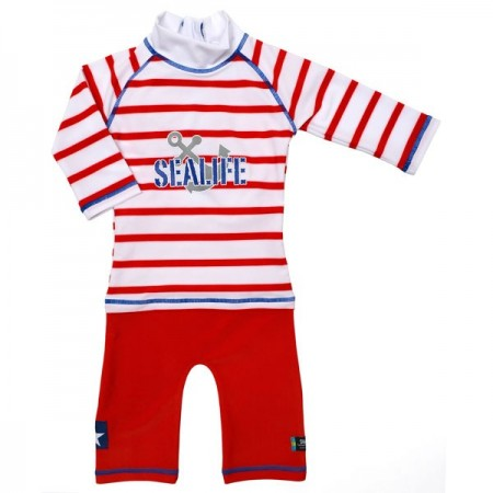 Costum de baie SeaLife red marime 98- 104 protectie UV Swimpy
