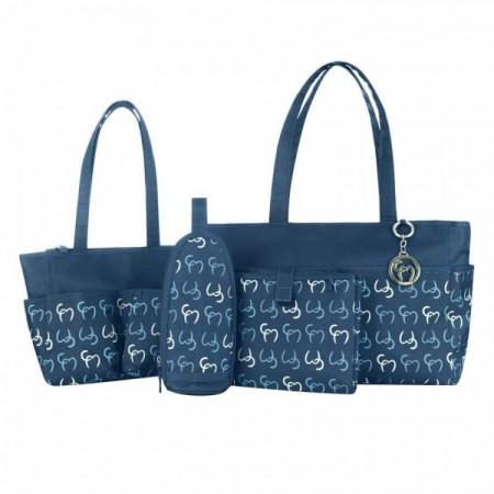 Set geanta multifunctionala Nicole Navy Clevamama