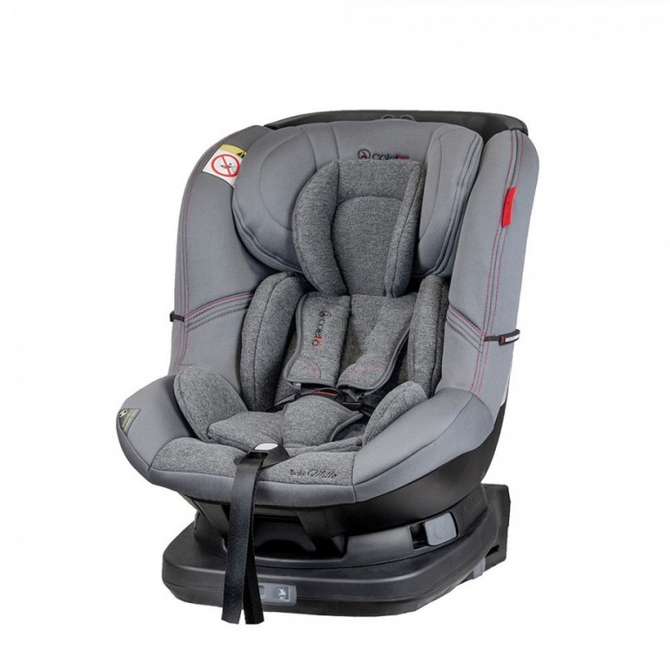Scaun auto Millo rotativ 360 grade cu ISOFIX 0-18 kg Gri Coletto