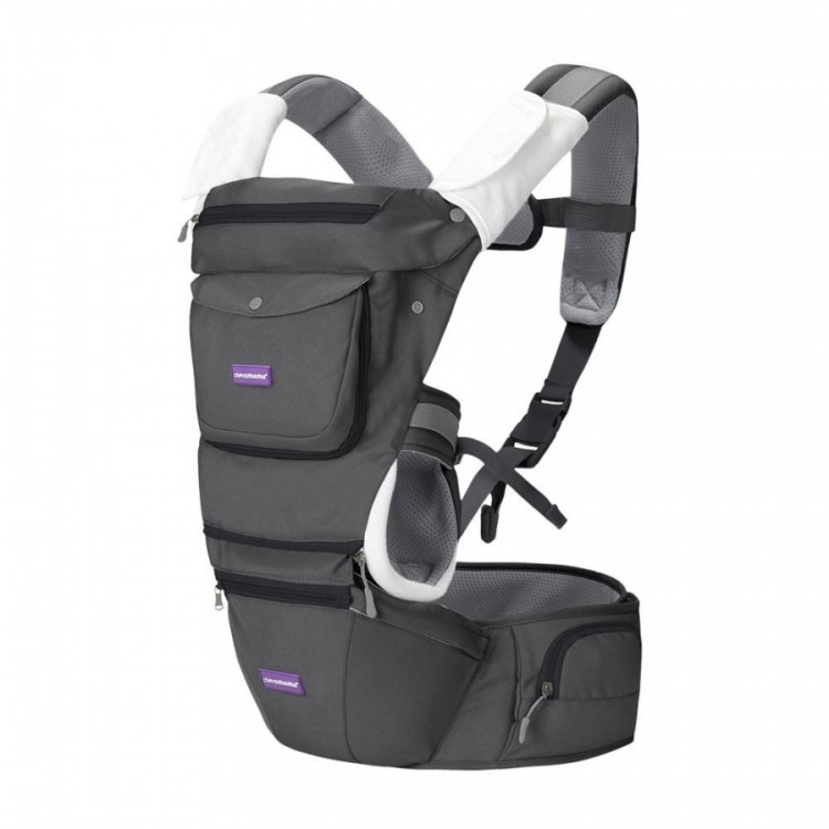 Marsupiu ergonomic pentru bebelusi si copii, multiple pozitii Clevamama