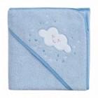 Prosop de baie pentru bebelus si mama blue Clevamama