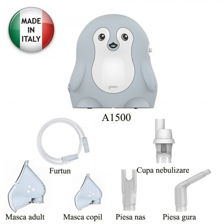 Aparat aerosoli cu piston Pinguin A1500 Emed