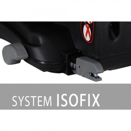 Scaun auto SPORTIVO cu ISOFIX grey+black 9-36 Kg Coletto