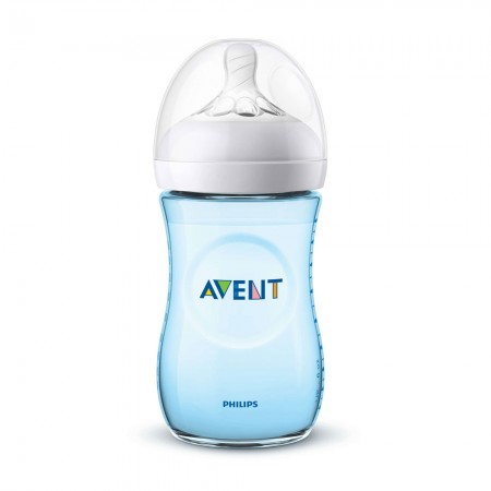 Biberon Natural Bleu, +1 luna, 260 ml, SCF035/17, Philips Avent