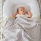 Paturica fleece pentru bebelusi 120x140 cm Clevamama 3459