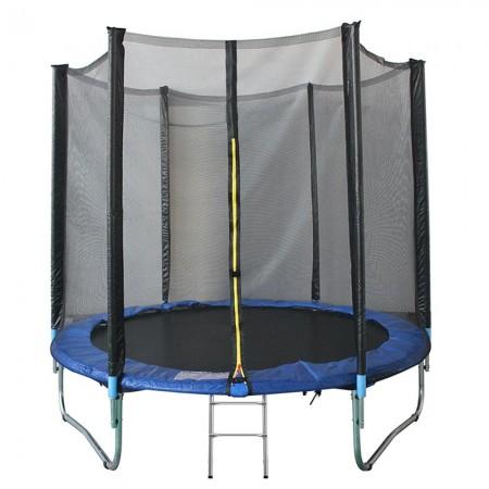 Trambulina KidsCare, cu scara si plasa de protectie, 305 cm