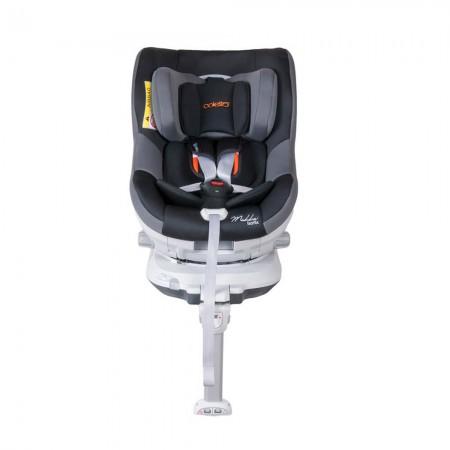 Scaun auto MOKKA rotativ 360 grade cu ISOFIX 0-18 kg Black Coletto