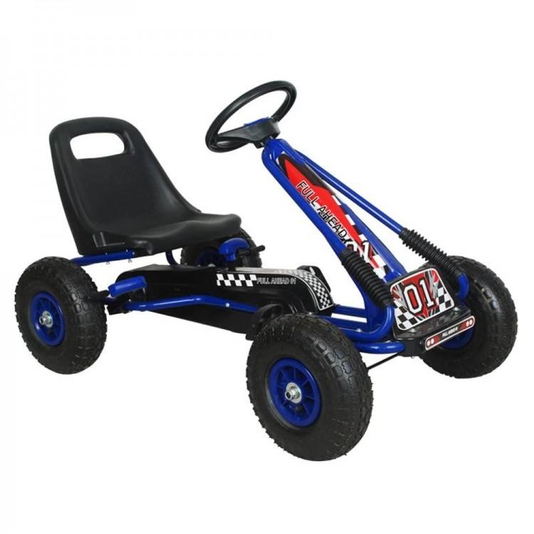 Kart M-Toys cu pedale si volan, Albastru
