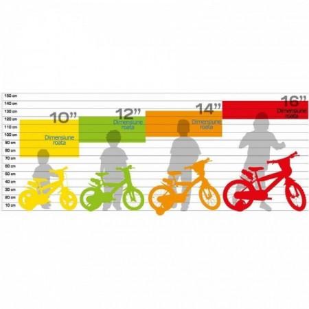 Bicicleta copii 143 GLN Dino Bikes 143