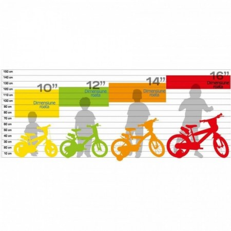 Bicicleta copii 163 GLN Dino Bikes 163
