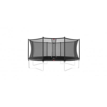 Trambulina Grand Favorit Regular 520x345 Gri cu Plasa Comfort Berg Toys