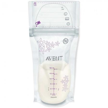 Set 25 pungi pentru depozitarea laptelui matern PHILIPS AVENT SCF603/25