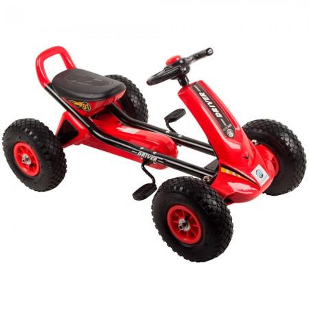 Kart cu pedale si roti gonflabile Driver Kidscare