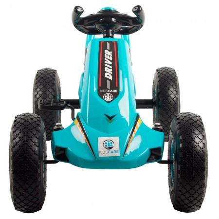 Kart cu pedale si roti gonflabile Driver Kidscare Albastru