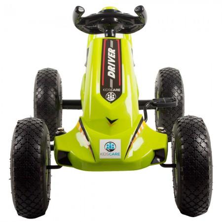 Kart cu pedale si roti gonflabile Driver Kidscare Verde