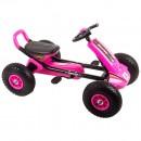 Kart cu pedale si roti gonflabile Driver Kidscare Roz